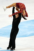 Valentina Marchei and Ondrej Hotarek of Italy skate during the Pairs Free Skating on day two of the Rostelecom Cup ISU Grand Prix of Figure Skating...