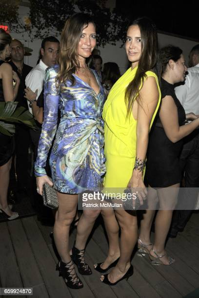 Valentina Micchetti and Anna Khouri attend Peter Dundas of EMILIO PUCCI hosts a dinner at The Webster at The Webster on December 3 2009 in Miami...
