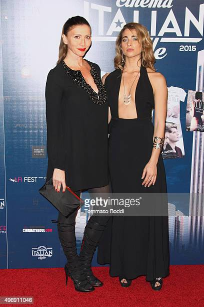 Valentina Micchetti and Ginevra Rossini attend the 11th Cinema Italian Style opening night screening of 'Don't Be Bad' held at the Egyptian Theatre...