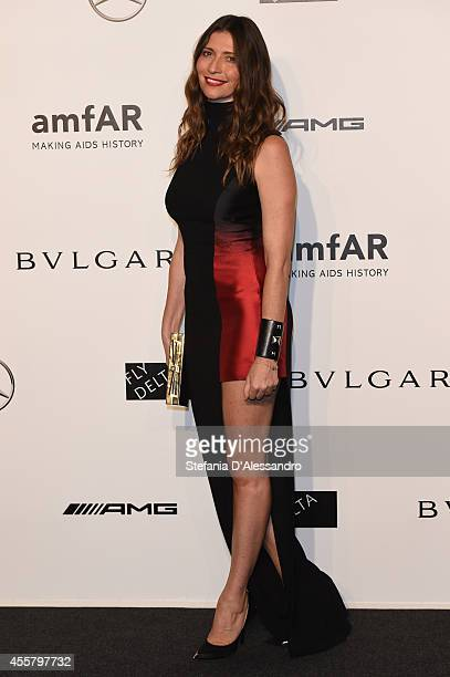 Valentina Micchetti attends the amfAR Milano 2014 Gala as part of Milan Fashion Week Womenswear Spring/Summer 2015 on September 20 2014 in Milan Italy