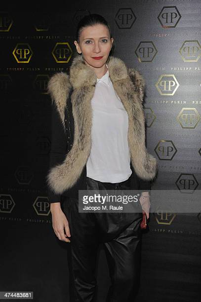 Valentina Micchetti attends the Philipp Plein show as part of Milan Fashion Week Womenswear Autumn/Winter 2014 on February 23 2014 in Milan Italy