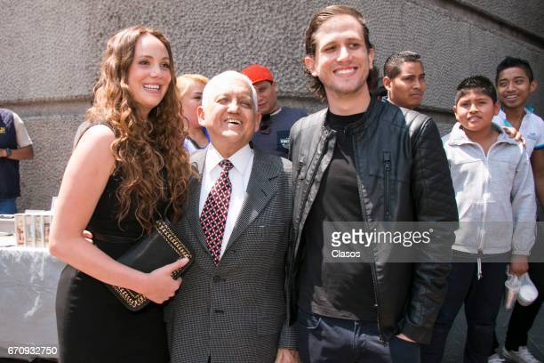 Valentina Moreno Eduardo Moreno and Mario Moreno Ivanova attend a mass to conmemorate the 24th Anniversary of the death of the Mexican actor Mario...