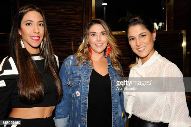 Valentina Murzi Anita Autiero and Maria Chating attend the cocktail reception at Vagu on December 7 2017 in Miami Florida
