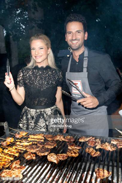 Valentina Pahde and Alexander Wahi attend the Kaufland Hosts VIP BBQ at OberhafenKantine on July 12 2017 in Berlin Germany