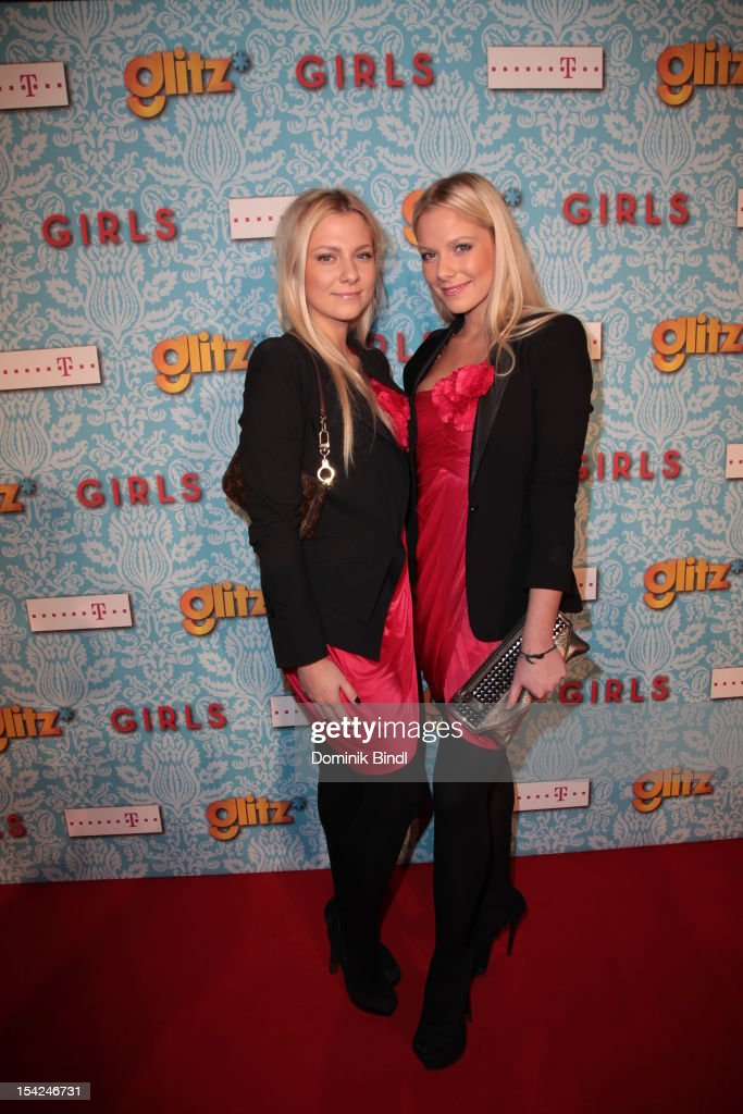 Valentina Pahde and Cheyenne Pahde attend 'Girls' preview event of TV channel glitz* at Hotel Bayerischer Hof on October 16, 2012 in Munich, Germany. The series premieres on October 17, 2012 (every Wednesday at 9:10 pm on glitz*).