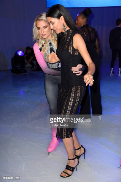 Valentina Pahde and Rebecca Mir during the Holiday on Ice Season Opening 2017/18 at Volksbank Arena on October 12 2017 in Hamburg Germany