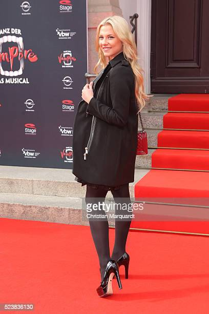 Valentina Pahde attends the premiere of the musical 'Tanz der Vampire' at Stage Theater des Westens on April 24 2016 in Berlin Germany