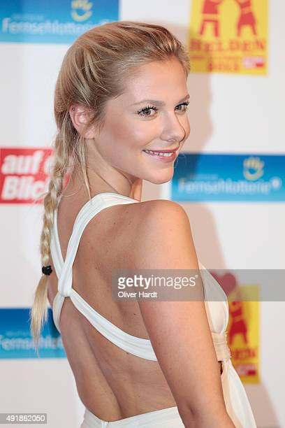 Valentina Pahde poses during the 'Helden des Alltags 2015' gala at Theater Kehrwieder on October 8 2015 in Hamburg Germany