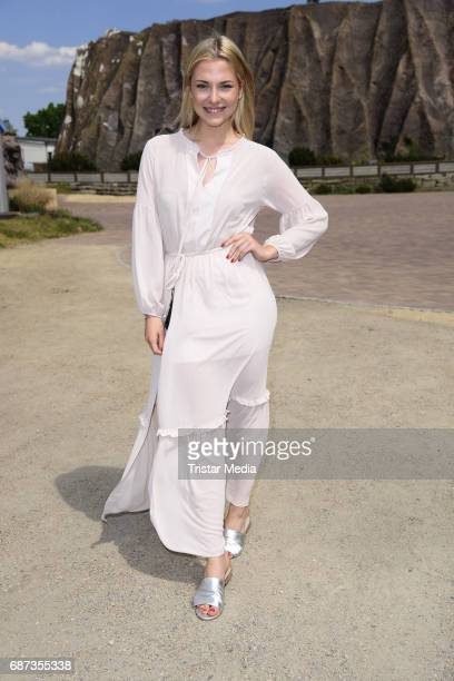 Valentina Pahde poses during the portrait exhibition to celebrate 25th anniversary of tv series 'Gute Zeiten schlechte Zeiten' at Filmpark Babelsberg...