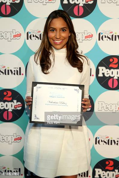 Valentina Palaez recipient of $5000 college Scholarship attends the 5th Annual Festival PEOPLE En Espanol Day 1 at the Jacob Javitz Center on October...