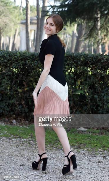 Valentina Romani attends a photocall for 'La Porta Rossa' fiction Rai at Villa Borghese on February 15 2017 in Rome Italy