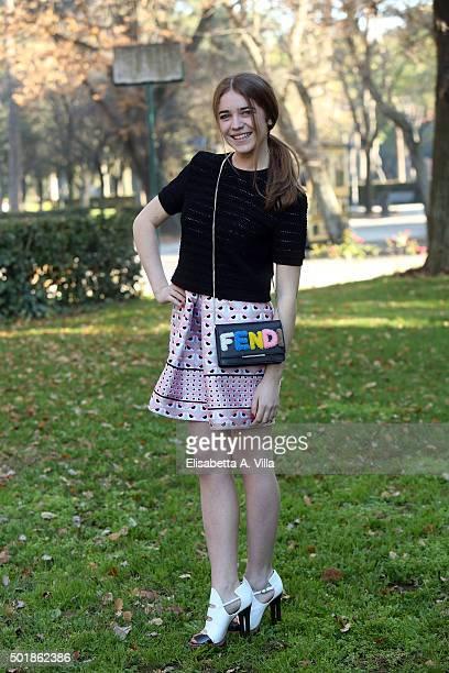 Valentina Romani attends a photocall for 'Tutto Puo' Succedere' RAI TV Serie at Villa Borghese on December 18 2015 in Rome Italy