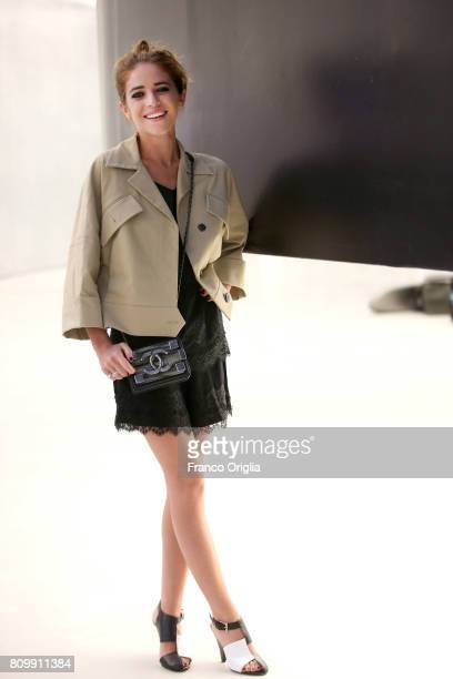 Valentina Romani attends 'Franca Chaos And Creations' screening during AltaRoma at Maxxi Museum on July 6 2017 in Rome Italy