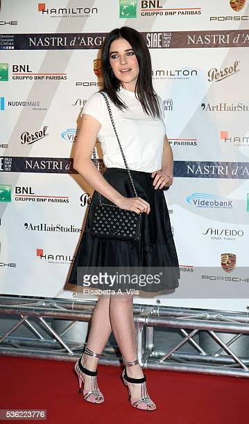 Valentina Romani attends Nastri D'Argento 2016 Award Nominations at Maxxi on May 31 2016 in Rome Italy