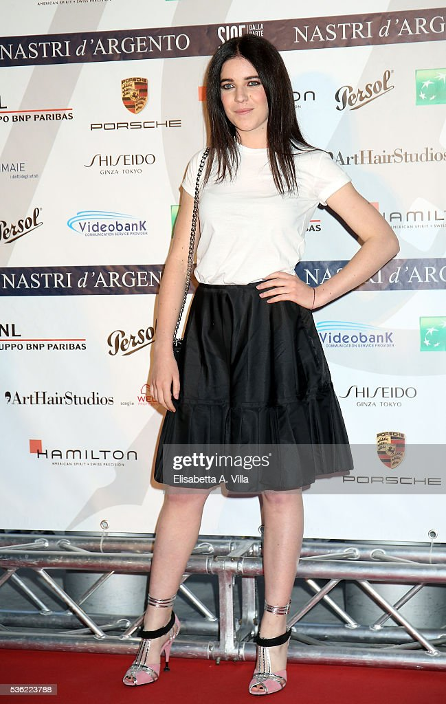 Valentina Romani attends Nastri D'Argento 2016 Award Nominations at Maxxi on May 31, 2016 in Rome, Italy.
