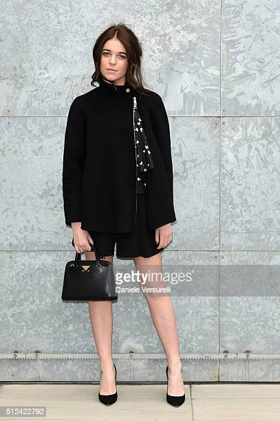 Valentina Romani attends the Emporio Armani show during Milan Fashion Week Fall/Winter 2016/17 on February 26 2016 in Milan Italy