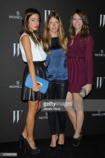 Valentina Scambia Virginia Galateri Di Genola and Valentina Micchetti attend W Magazine Dance Party during Milan Fashion Week Womenswear S/S 2013 on...