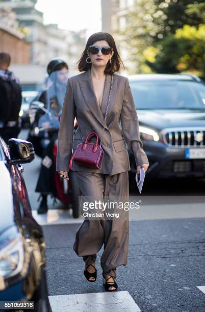 Valentina Siragusa is seen outside Max Mara during Milan Fashion Week Spring/Summer 2018 on September 21 2017 in Milan Italy