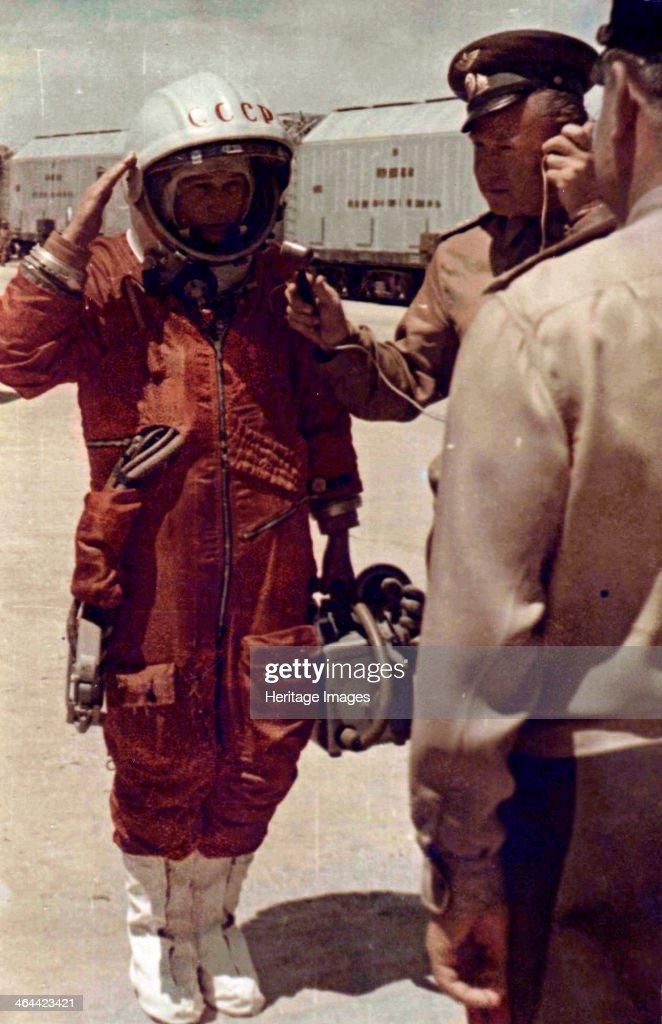 Valentina Tereshkova Russian cosmonaut Baikonur Cosmodrome USSR 16 June 1963 Tereshkova on the day when she piloted Vostok 6 making the first space...