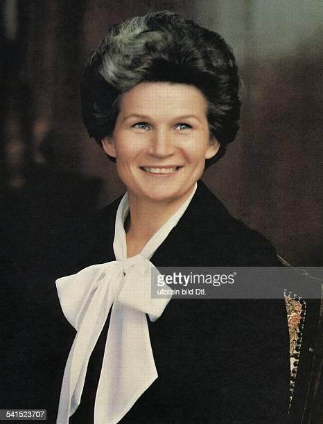 Valentina Vladimirovna Tereshkova * Soviet cosmonaut politician USSR portrait date unknown photo by Vassili Malyshev