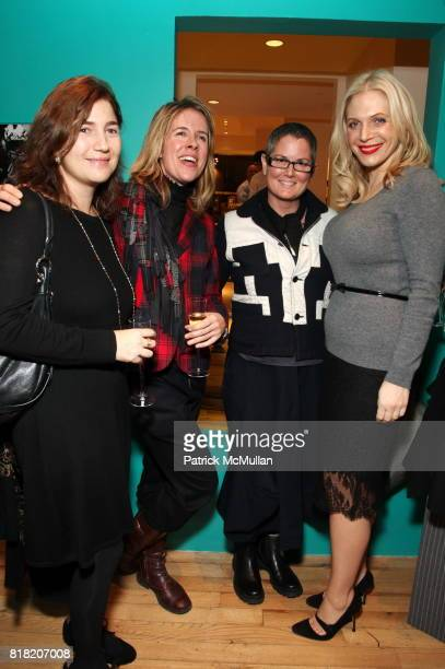 Valentina Wright Circe Hamilton Ellie Gunn and Anabel Tollman attend Anthropologie Hosts US Book Launch of BLOW BY BLOW at Anthropologie at...