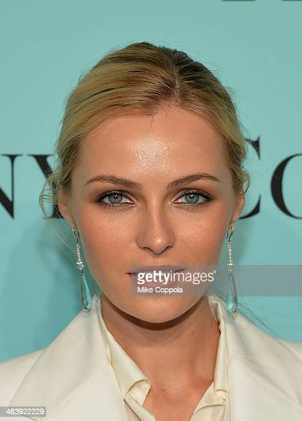 Valentina Zelyaeva attends the Tiffany Debut of the 2014 Blue Book on April 10 2014 at the Guggenheim Museum in New York United States