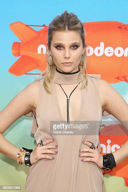 Valentina Zenere arrives at the Nickelodeon Kids' Choice Awards Mexico 2016 at Auditorio Nacional on August 20 2016 in Mexico City Mexico