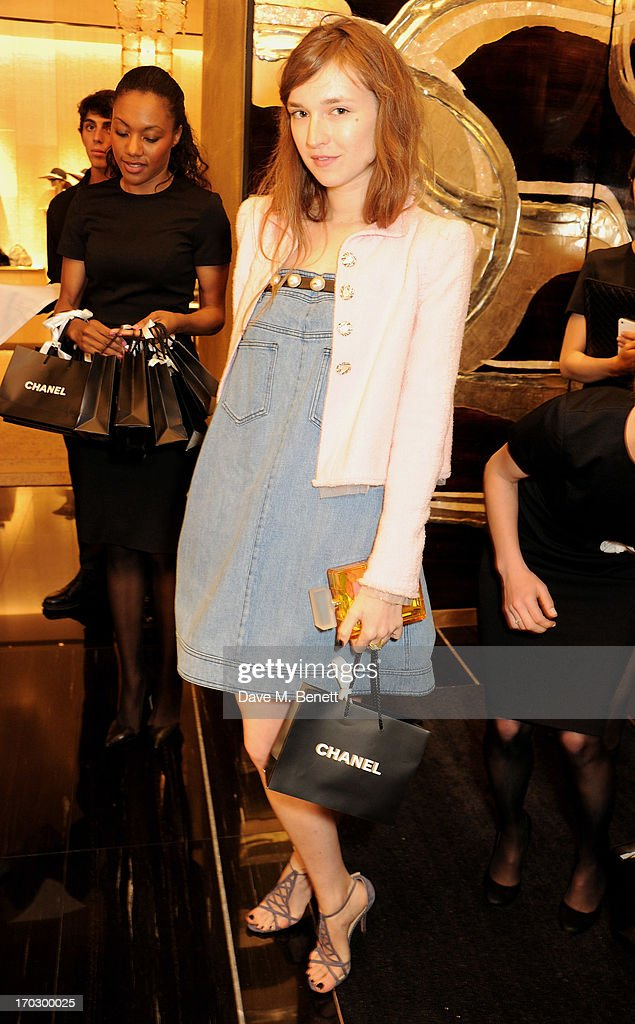 Valentine Fillol Cordier attends a private view of the new CHANEL flagship boutique on New Bond Street on June 10, 2013 in London, England.