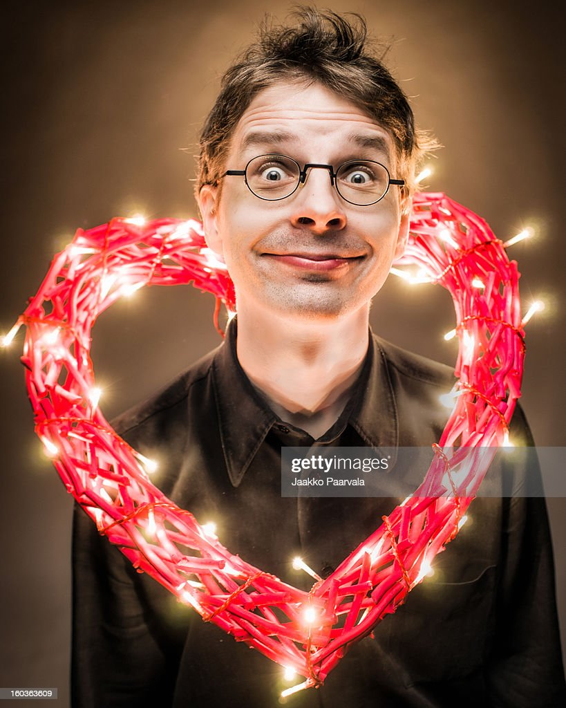 Valentine man : Stock Photo