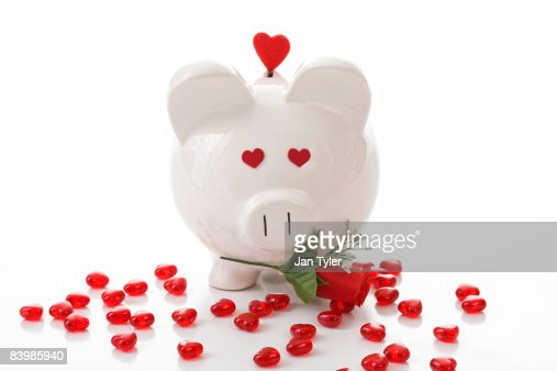 valentine pig stock photo - Valentine Pig