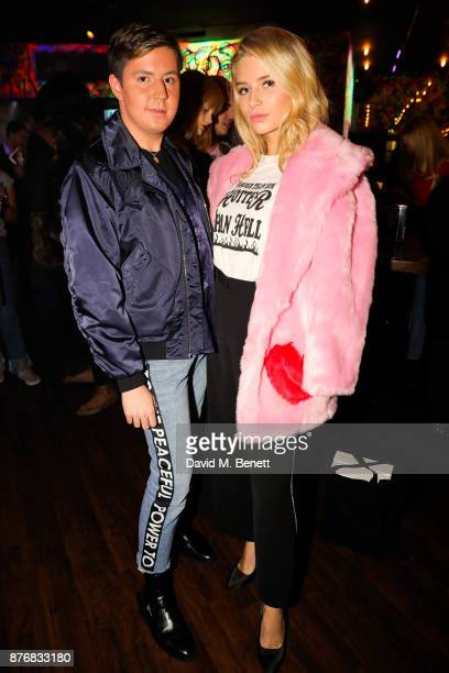 Valentine Sozbilir and Lottie Moss attend the launch of the Skinnydip x MTV collection at Ballie Ballerson on November 20 2017 in London England