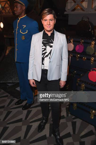 Valentine Sozbilir attends the Aspinal of London presentation during London Fashion Week September 2017 on September 18 2017 in London England
