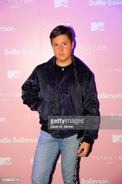 Valentine Sozbilir attends the launch of the Skinnydip x MTV collection at Ballie Ballerson on November 20 2017 in London England