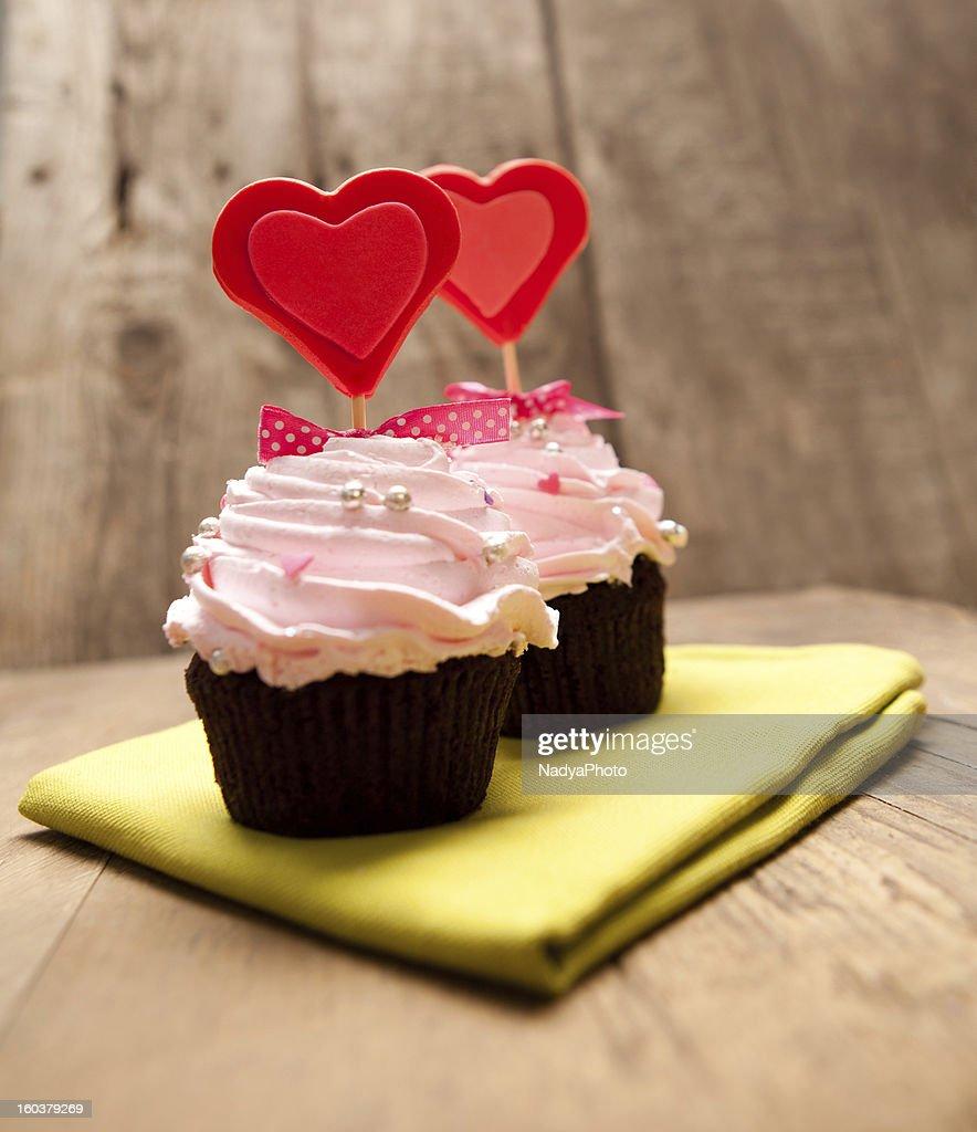 Valentine's Cupcakes : Stock Photo