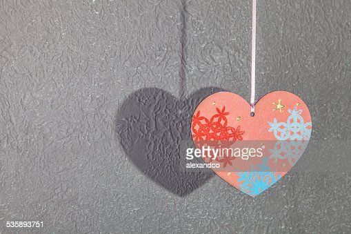 Valentines Day background with hearts : Stock Photo