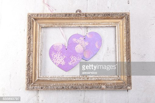 Valentines Day background with hearts : Stockfoto