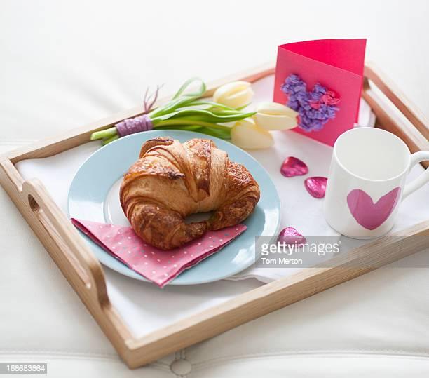 Plateau de petit déjeuner de la Saint-Valentin