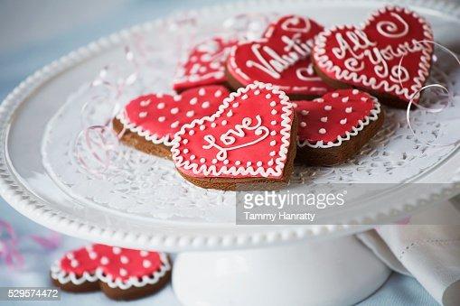 Valentine's Day Cookies : Stock Photo