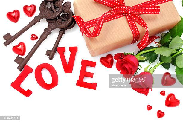 Valentines day decoration with copy space