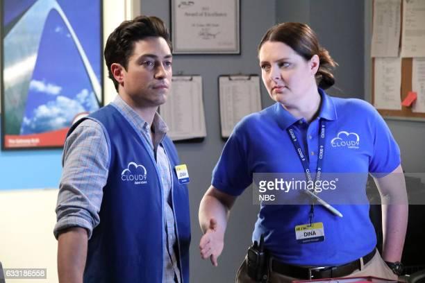 SUPERSTORE 'Valentine's Day' episode 214 Pictured Ben Feldman as Jonah Lauren Ash as Dina