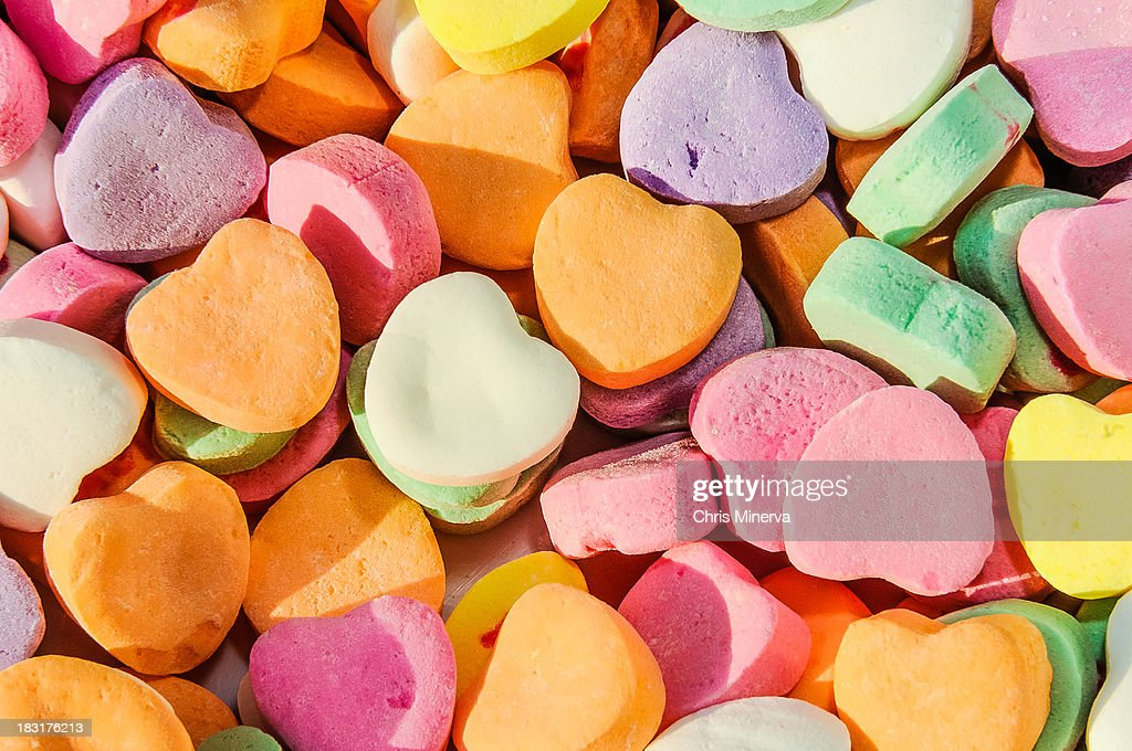 Valentines Day Heart Shaped Candies