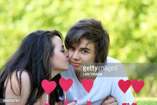 Valentines Day Kiss Surprise Stock Photo | Getty Images