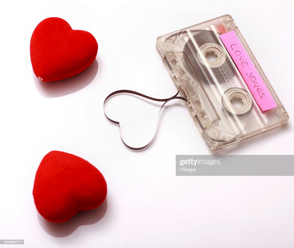 Valentine's Day special cassette : Stock Photo