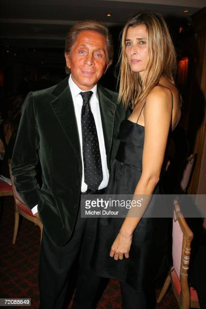 Valentino and Rosario Nadal attend the Valentino Party at the Ritz club part of Paris Fashion Week October 4 2006 in Paris France