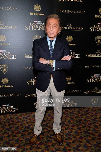 Valentino attends a screening of Marvel Studios' 'Doctor Strange' hosted by Lamborghini with The Cinema Society JaegerLeCoultre and 19 Crimes Wines...