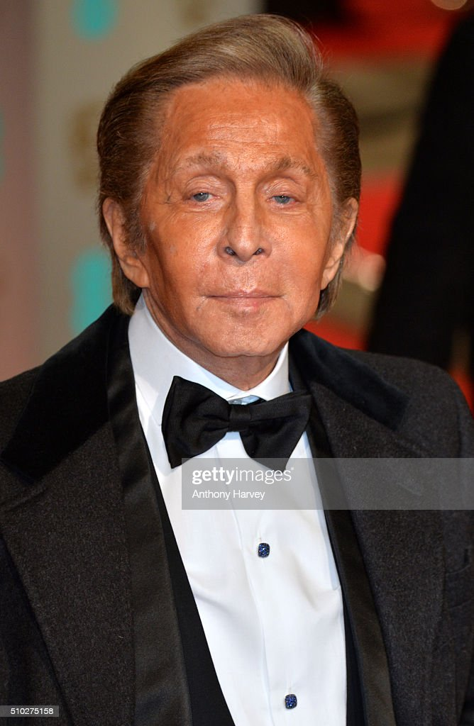 Valentino attends the EE British Academy Film Awards at The Royal Opera House on February 14, 2016 in London, England.