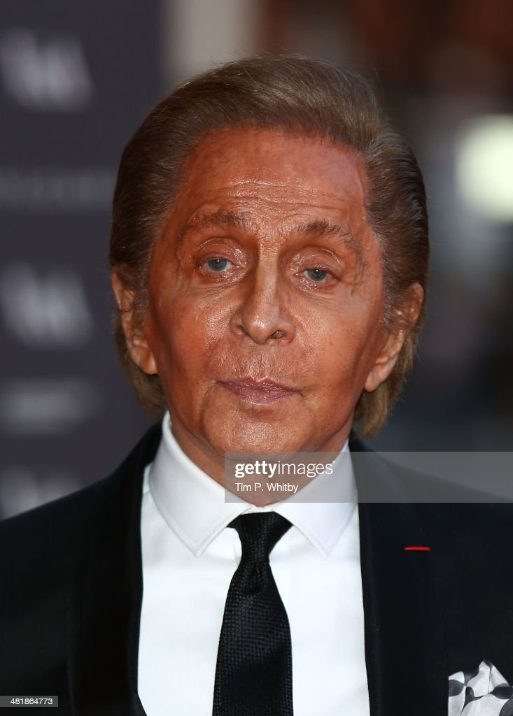 Valentino attends the preview of The Glamour of Italian Fashion exhibition at Victoria & Albert Museum on April 1, 2014 in London, England.