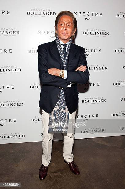 Valentino attends the 'Spectre' prerelease screening hosted by Champagne Bollinger and The Cinema Society at IFC Center on November 5 2015 in New...