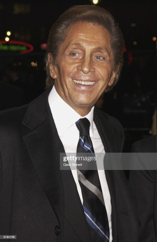 Valentino attends the UK Premiere of 'Silvia' at the Odeon, Leicester Square on November 7, 2003 in London.