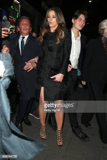 Valentino Clemente Ludovico Garavani Elizabeth Hurley and Damian Hurley attend An American in Paris press night at Dominion Theatre on March 21 2017...